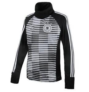 Adidas Men DFB Germany Warm Training L S T-Shirts Soccer Black Tee ... 0eb6c7c0d213a