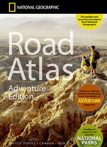 National Geographic Road Atlas 50 States Canada Mexico PR Travel Map RD00620166