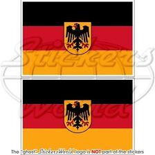 DEUTSCHLAND Staatsflagge Fähnrich Deutsche Kriegsflagge 100mm Auto Aufkleber x2