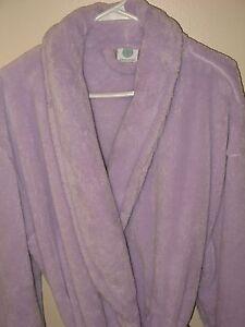 Martha-Stewart-Womens-One-Size-Purple-Bathrobe-Plush-Short
