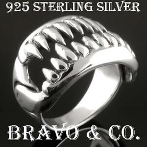 Details about SIZE 10 Hallmark 925 Sterling Silver Movable JAW New  Motorcycle Men Ring R-034