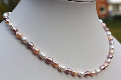 51cm 8mm Luxus Süßwasser Perle schmuck Perlenketten Echtschmuck Ketten Collier