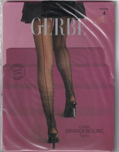 Taille 4-10 Fashion tights. Collant GERBE BRANDEBOURG coloris Chocolat