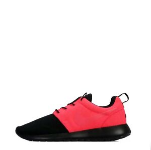 reputable site dd93e c0337 Details about Nike ID Roshe One Men's Casual Trainers Shoes Black/Solar Red
