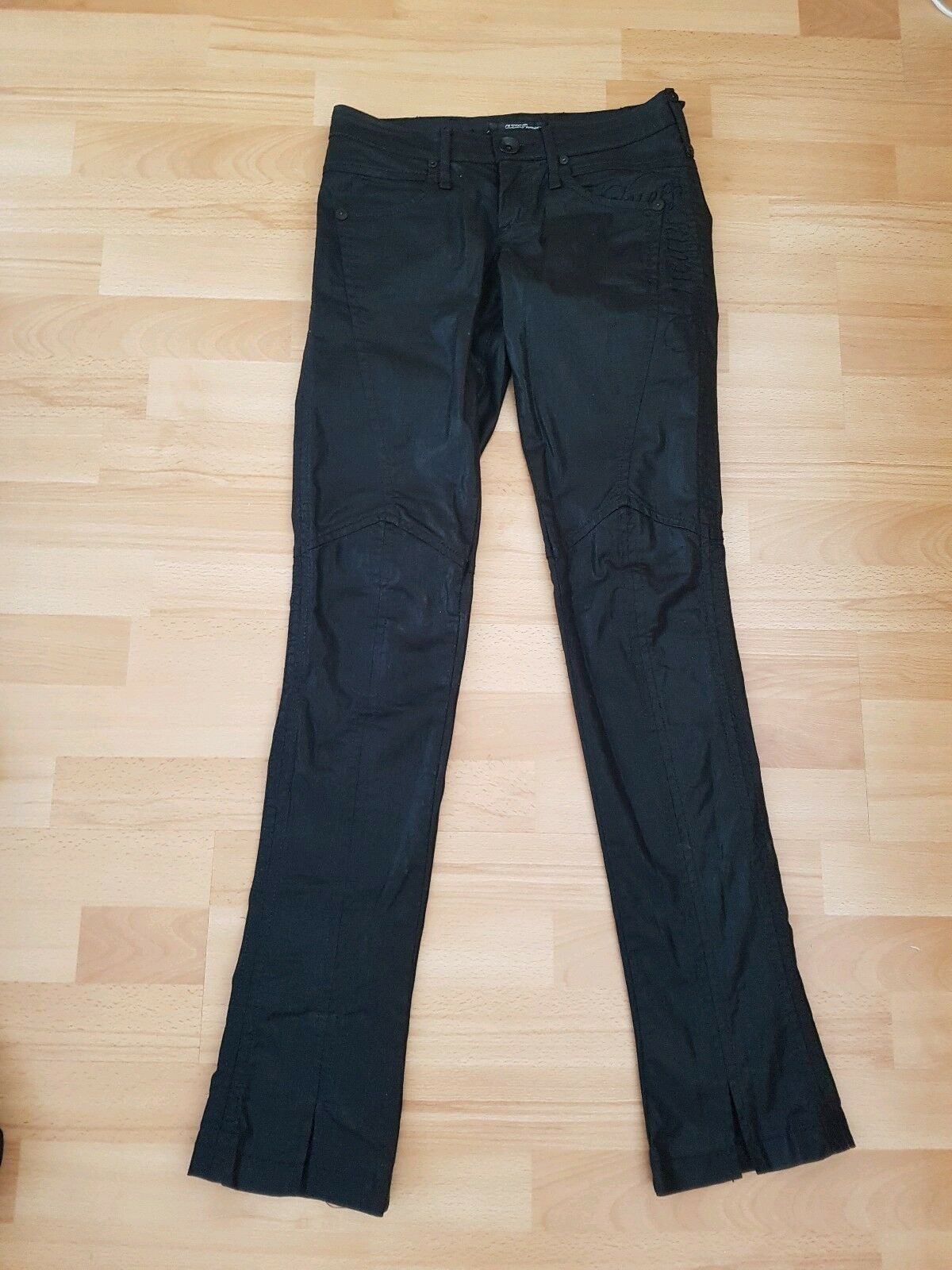 Guess Premium Wet Look Jeans with split ends, size 27 - VGC
