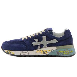 Dettagli su Premiata sneaker blu MICK 3830 in pelle scamosciata per uomo Premiata MICK 3830B