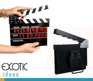 Movie-Slate-Clapper-Board-LED-Digital-Desk-Clock-with-Calendar-Alarm-AC-power