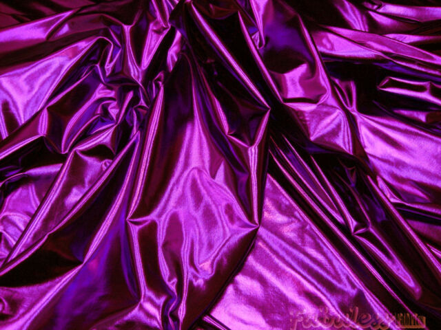 """PURPLE SPANDEX LYCRA STRETCH FABRIC 60""""W BTY DRESS COSTUME DRAPE DECOR"""