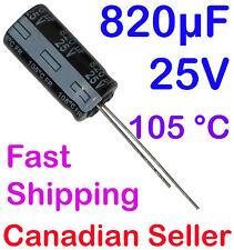 5pcs 820uF 25V 10x20mm 105 °C Panasonic FR Low ESR For PC TV AUDIO VIDEO TFT LCD