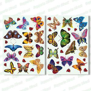 25-Beautiful-Butterfly-17-Ladybird-Window-Clings-Glass-Stickers-Butterflies