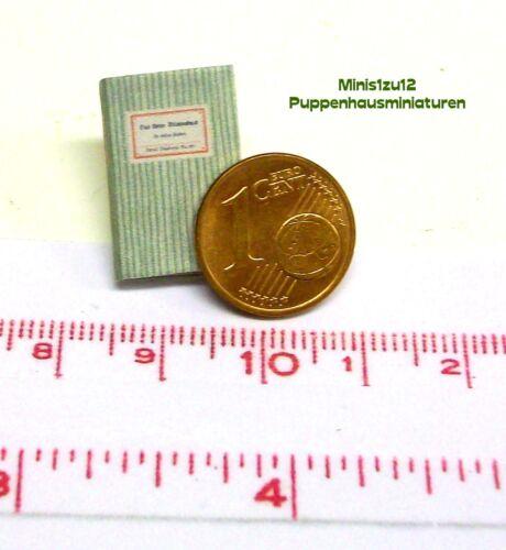 1112# Miniatur Blumenbuch mit vielen Bildern Puppenstube Puppenhaus M1zu12
