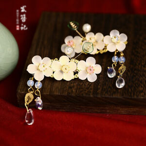 Retro Flower Hair Clasp for Han Fu Accessory Chinese Style Handmade Hairpin