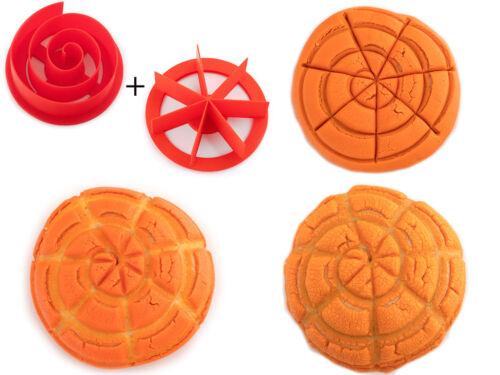 "3.5/"" Swirl Spiral Pattern Bread Stamps Swirl Concha Cutter"