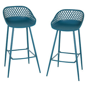 HOMCOM-2-Pieces-Metal-Counter-Bar-Height-Stools-Pub-Chairs