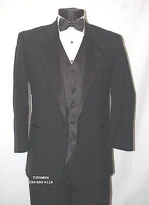 35 S Classic Black Tuxedo Coat Pant Shirt Vest Bow tie Complete Tuxedo COMPLETE