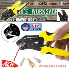 Automatic Ratchet Crimper Cable Wire Terminals Electrical Plier Crimping Tool Us