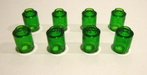 8 x LEGO ® 30068 transparent 1x1 rond vert comme sur la photo neufs.