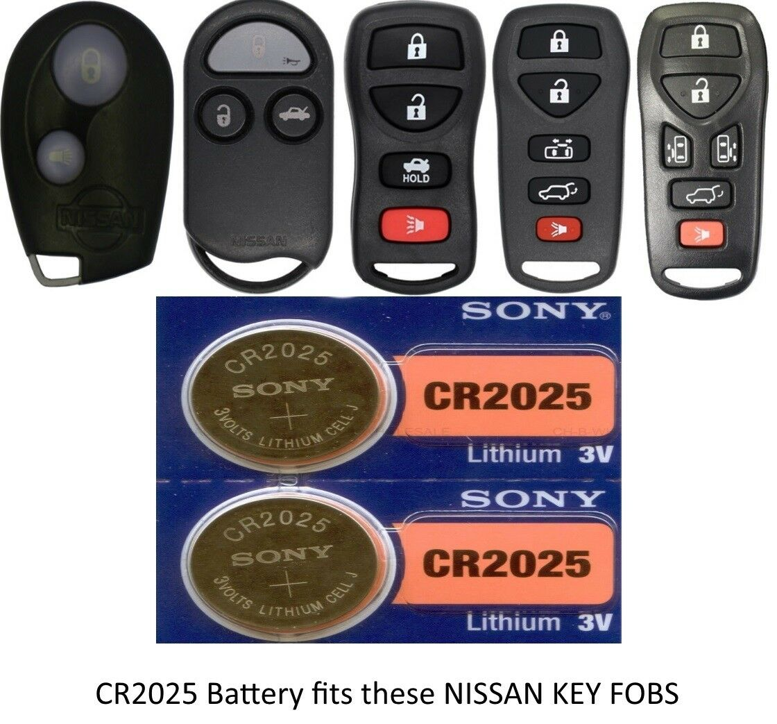 Pack of 2 USARemote Battery CR2025 3V for Car Remote Key Fob Keyless Entry