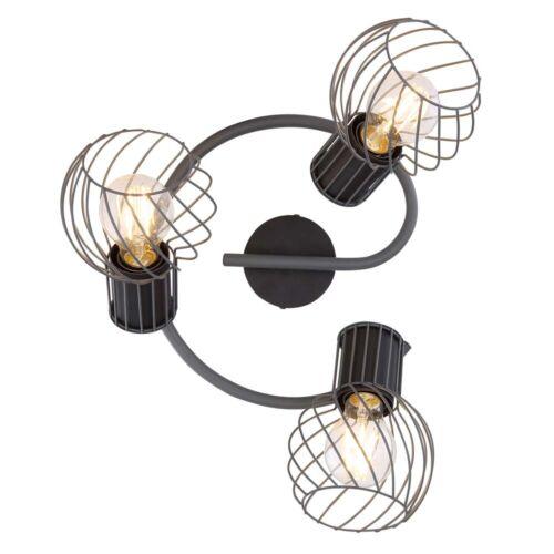 Decken Leuchte Metall-Käfig 3-Flammig Rondell Strahler Spots beweglich Lampe