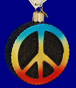 Old-World-Christmas-PEACE-SIGN-36152-N-Glass-Ornament-w-OWC-Box