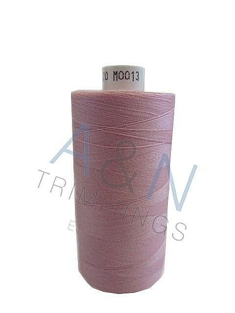 BEIGE /& BROWNS 1000 YARDS 10 REELS MOON SPUN POLYESTER SEWING THREAD COTTON
