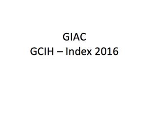 Details about GIAC SEC504 - Index 2016 [SANS]