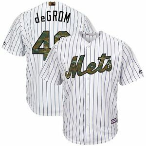 2016 JACOB deGROM New York Mets USMC Military Camo Home Cool Base Jersey Men's