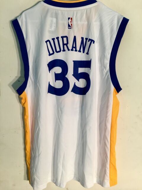 9c9c9f9c0a83 Adidas NBA Jersey Golden State Warriors Kevin Durant White sz XL