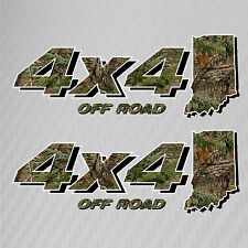 4x4 Truck Off Road Indiana Hunting Deer Camo Decal Ford Chevy GMC Dodge Toyota