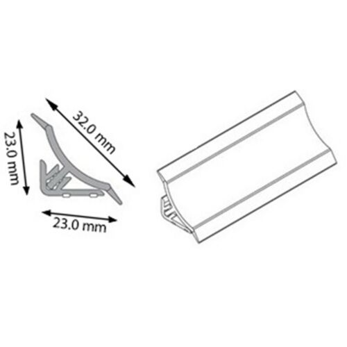 23mm Abschlussleisten  Winkelleisten Wandabschlussleiste Arbeitsplatte Buche
