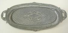 Chromed Small Oval Tray with Hallmark Made in Japan Perfect for Dressing Table