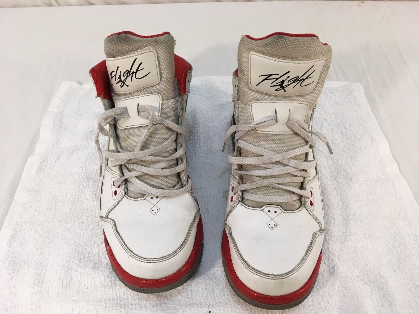 hombre Nike Air Jordans vuelo de rojo blanco negro zapatos de vuelo baloncesto de 10 Athletic 445c60