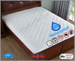 TOP-QUALITY-WATERPROOF-QUILTED-MATTRESS-PROTECTOR-SINGLE-DOUBLE-SUPER-KING-SIZE