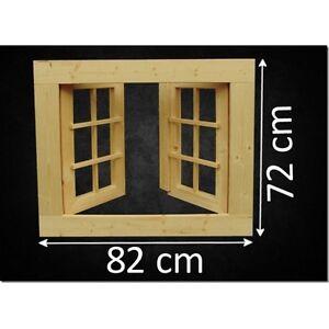 Fenster Holzfenster Gartenhaus Gartenhausfenster 82 X 72 Cm