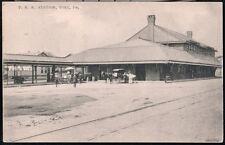 YORK PA PRR Station Pennsylvania Railroad Depot Station Vintage B&W Postcard Old
