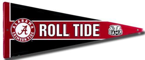 Alabama Crimson Tide Metal Pennant Sign Roll Tide Game Room Fan Man Cave Novelty