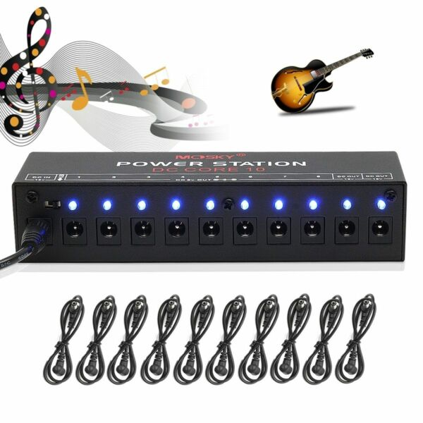caline 10ch guitar pedal board effect power supply isolated output 9v 12v 18v for sale online ebay. Black Bedroom Furniture Sets. Home Design Ideas