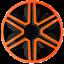 AKTNOrange 14 Inch Wheel Trim Set Gloss Black Set of 4 Univers Hub Caps Covers