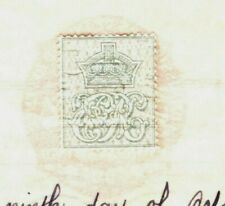 GB REVENUES *Perforated KEVII Cypher Stamps* 1908 Document RARE {samwells}MAL77