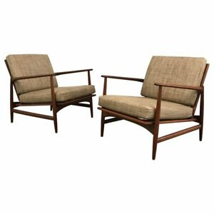 Marvelous Details About Danish Modern Teak Lounge Chairs By Ib Kofod Larsen For Selig Gmtry Best Dining Table And Chair Ideas Images Gmtryco