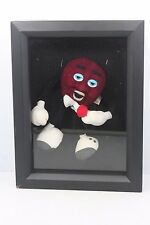 "Vintage Shadow Box Framed Applause California Raisin 5"" Figure w/ Microphone"