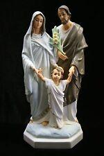 """12"""" Holy Family Statue Joseph Baby Jesus Mary Catholic Religious Made in Italy"""