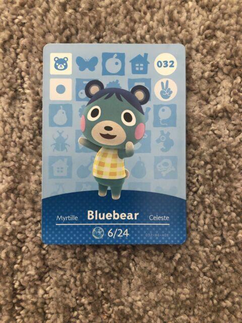 Bluebear #032 Animal Crossing New Horizons Amiibo Card NM ...