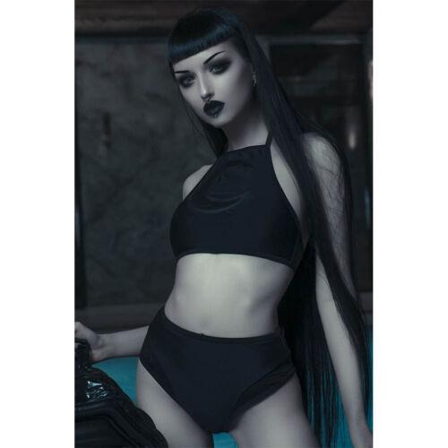 Killstar Gothic Goth Okkult Punk Bikini Badeanzug Luna Mond