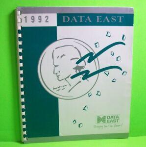 Data-East-Pinball-Machine-Arcade-Game-Original-Portfolio-Promo-Info-Unusual-1992