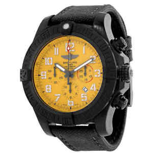 Breitling Chronograph Automatic Chronometer Cobra Yellow Dial Men's Watch