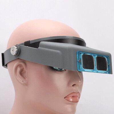 "3.5x 4"" Jewelery Loupe Multi Lens Optical Head Visor Binocular Acrylic Magnifier"