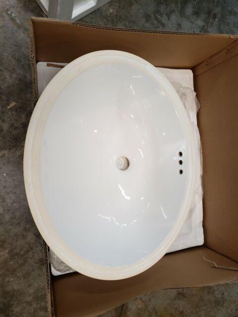 Plumbing Fixtures Restoration Hardware 19 In Ceramic Sink White Basin Bath Undermount 23800471 Home Improvement
