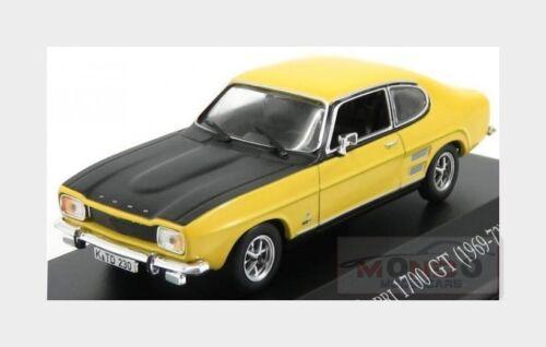 Ford England Capri 1.7 Gt Coupe 1969 Yellow Black EDICOLA 1:43 AULETEDCOLL001