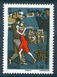 TIMBRE-4982-NEUF-XX-LUXE-FETE-DU-TIMBRE-DANSEURS-DE-TANGO